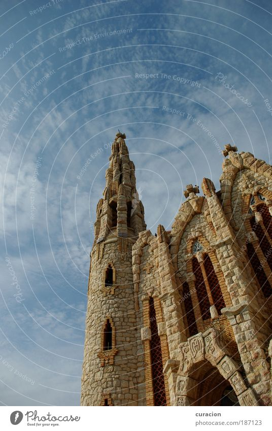 Sky Clouds Architecture Building Religion and faith Stone Contentment Church Europe Manmade structures Spain Belief Landmark Monument Brick Tourist Attraction