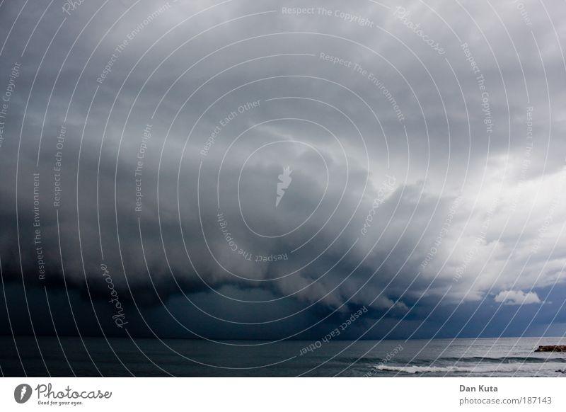 Nature Water Ocean Blue Summer Dark Gray Warmth Rain Coast Wind Weather Threat Clouds Anger Gale