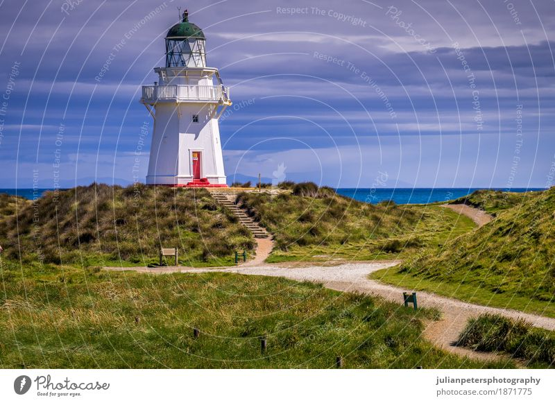 Waipapa Point Lighthouse New Zealand Sky Nature Vacation & Travel Old White Landscape Ocean Clouds House (Residential Structure) Architecture Lanes & trails