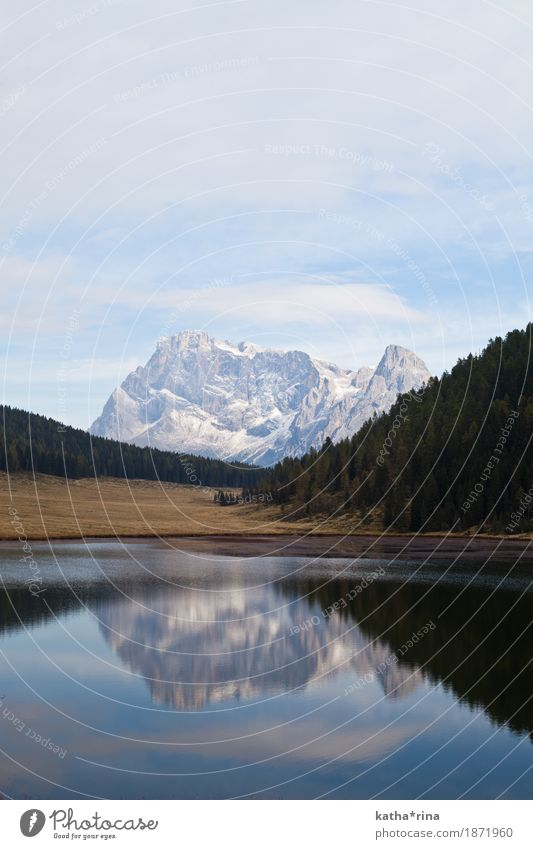 Lago di Calaita, Trentino, Dolomites Landscape Autumn Beautiful weather Alps Mountain Pale di San Martino pala group Lakeside Adventure Loneliness Freedom