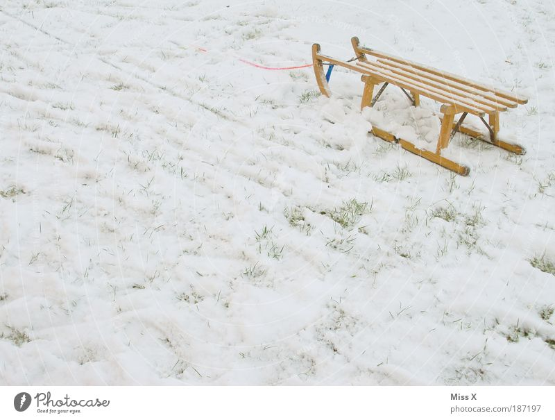 toboggan Playing Vacation & Travel Winter Snow Environment Weather Ice Frost Cold Idyll Joy Tradition Sleigh Colour photo Subdued colour Exterior shot Deserted