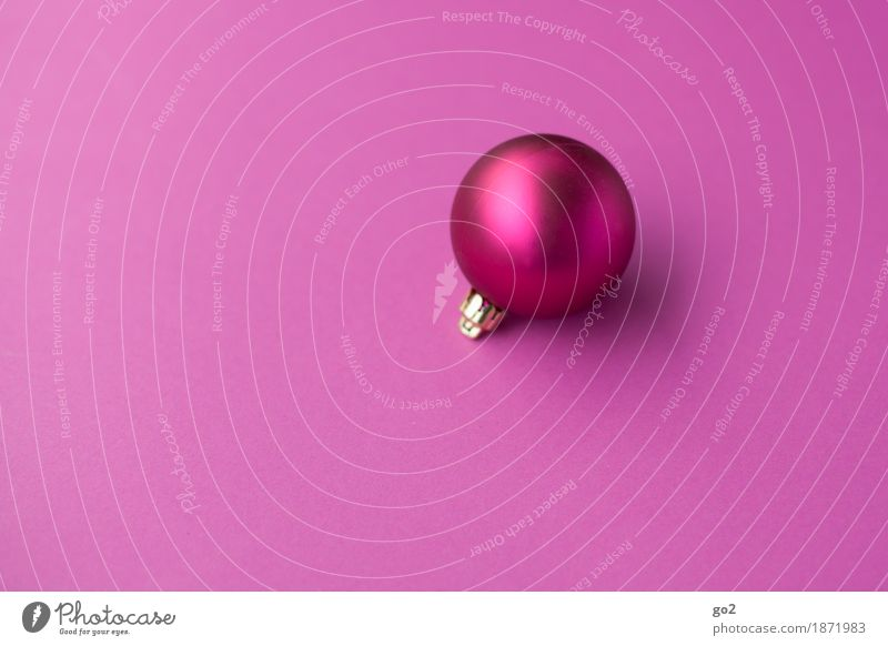 Christmas bauble Christmas & Advent Decoration Kitsch Odds and ends Sphere Esthetic Round Violet Pink Anticipation Christmas decoration Christmas gift