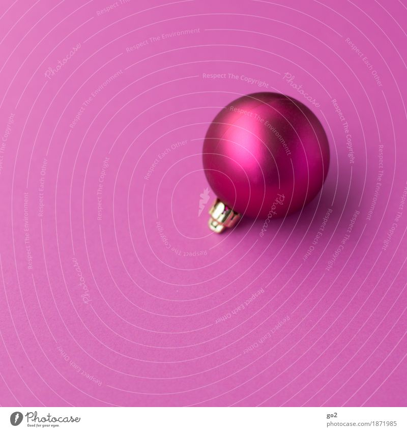Pink Christmas Christmas & Advent Decoration Sphere Esthetic Round Violet Anticipation Christmas decoration Christmas gift Glitter Ball Colour photo