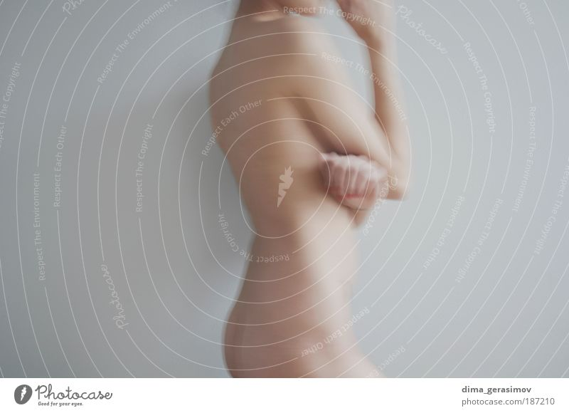 Morning Human being Woman Youth (Young adults) White Beautiful Adults Cold Feminine Eroticism Gray Young woman Air Healthy Body 18 - 30 years Skin