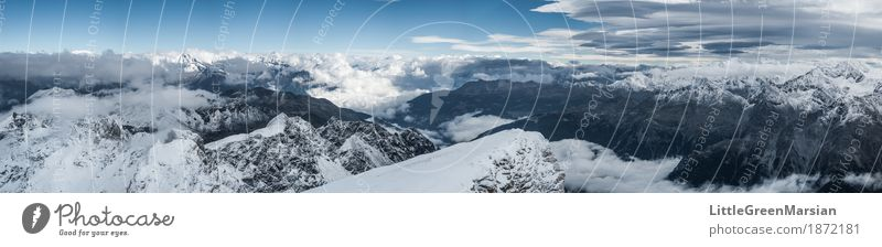 Misty Mountains [4] Sky Nature Blue White Landscape Loneliness Clouds Black Cold Snow Freedom Gray Rock Horizon Fog
