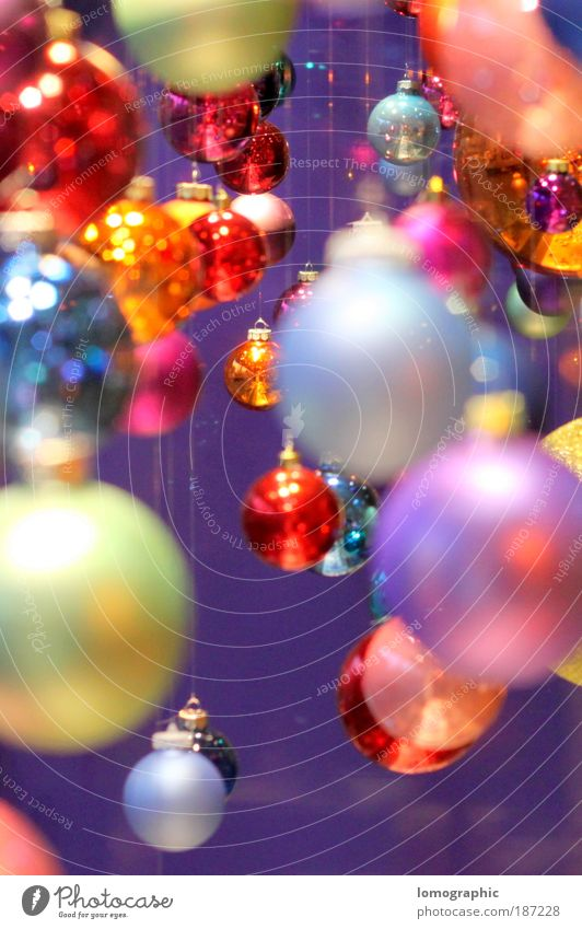 Ball coloured III Lifestyle Elegant Style Design Decoration Sphere Illuminate Kitsch Multicoloured Christmas & Advent Christmas decoration Christmas Fair