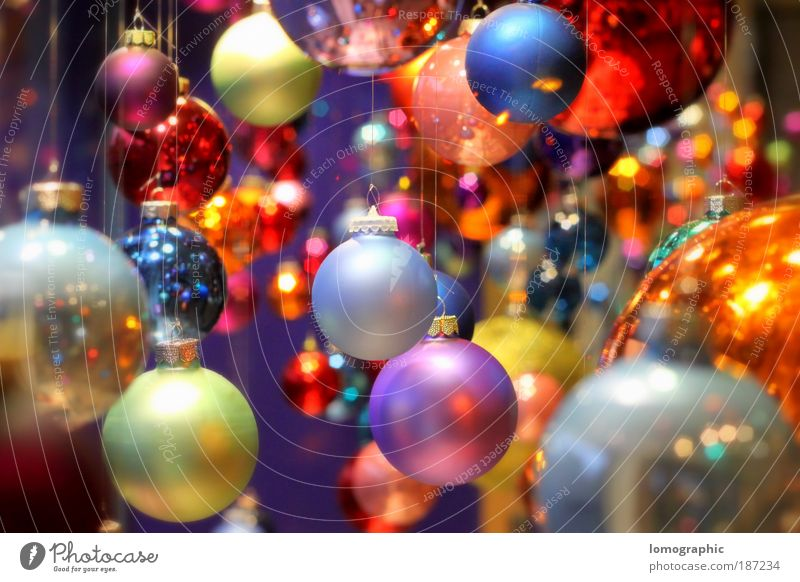 Ball coloured IV Lifestyle Elegant Style Design Art Exhibition Glass Sphere Glittering Round Multicoloured Christmas & Advent Christmas decoration Glitter Ball