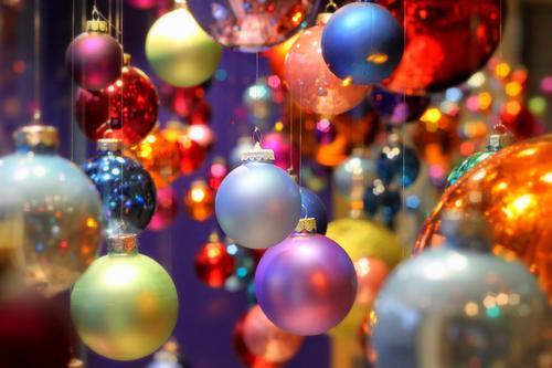 Ball coloured IV Lifestyle Elegant Style Design Art Exhibition Glass Sphere Glittering Round Multicoloured Christmas & Advent Christmas decoration Glitter Ball