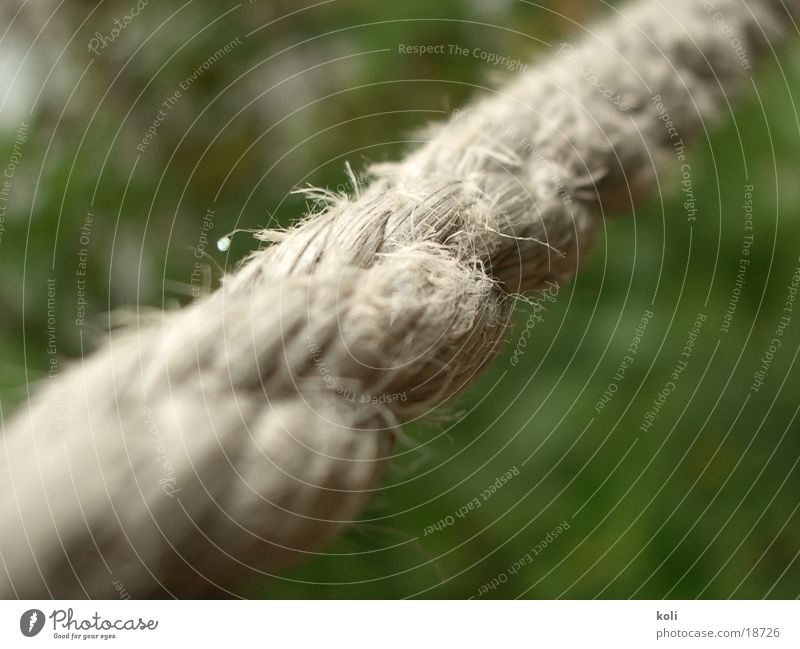 Rope To hold on String Depth of field Across