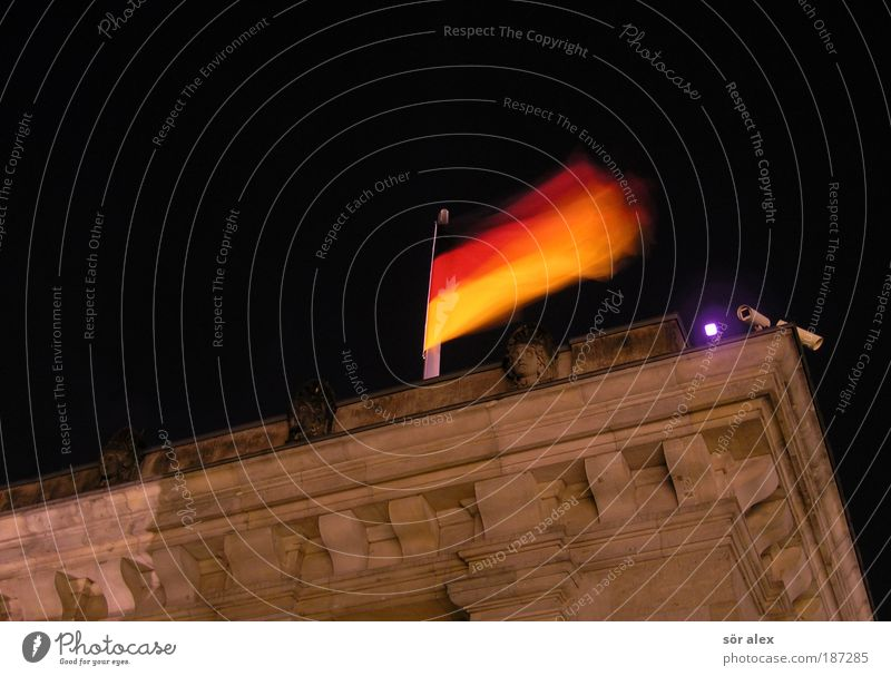 Red Black Yellow Brown Gold Facade Safety Might Roof Flag Protection German Flag Monument Historic Landmark Testing & Control