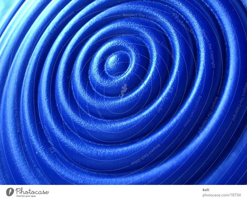 watering can curl Watering can Circle Macro (Extreme close-up) Close-up Blue Statue