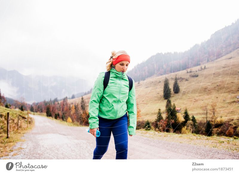 Nature Youth (Young adults) Young woman Landscape Loneliness 18 - 30 years Mountain Adults Cold Lanes & trails Autumn Lifestyle Natural Movement Sports Going