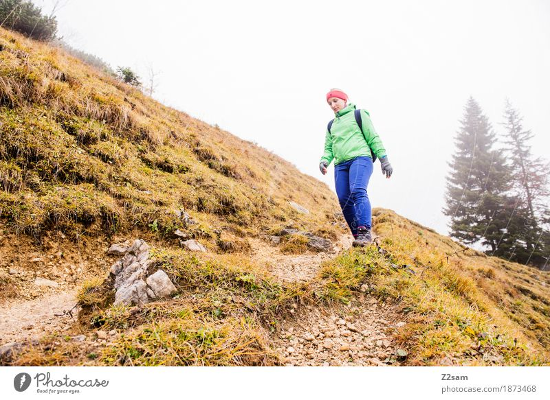 Woman Nature Vacation & Travel Youth (Young adults) Green Landscape Relaxation Loneliness 18 - 30 years Mountain Adults Natural Movement Sports Going