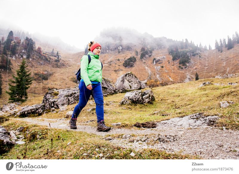 Nature Youth (Young adults) Young woman Landscape Relaxation Loneliness Calm 18 - 30 years Mountain Adults Cold Autumn Lifestyle Lanes & trails Sports Healthy