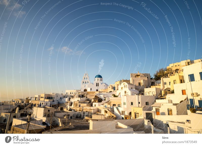 center Living or residing Flat (apartment) House (Residential Structure) Village Downtown Old town Populated Town Greece Santorini Church Center point Sky