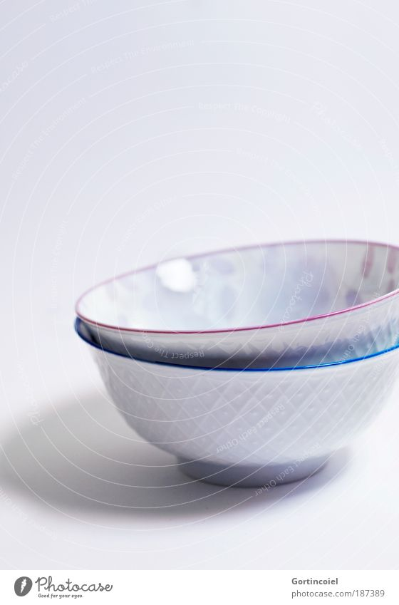 Cup Cup Food Asian Food Crockery Bowl Lifestyle Style Design Restaurant Art Porcelain Desert bowl Line Exotic Cold Beautiful Blue Pink White China Japan Pattern