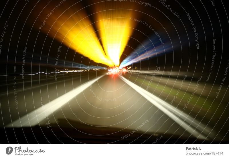 Colour Yellow Street Life Lanes & trails Car Energy Speed Dangerous Idea Long exposure Traffic infrastructure Vehicle Highway Accident Driving