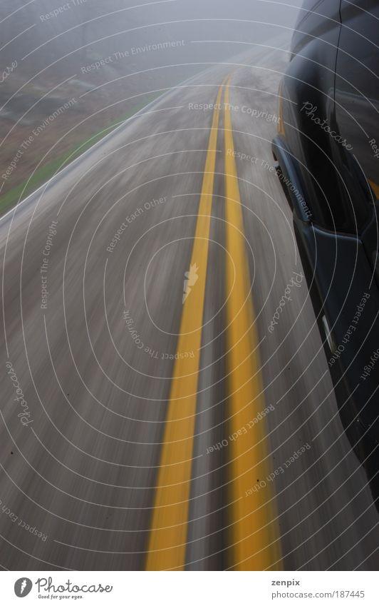 speeding car Street Movement Car Line Transport Speed Stripe Driving Asphalt Motor vehicle Highway Risk Vehicle Motoring Road traffic Haste
