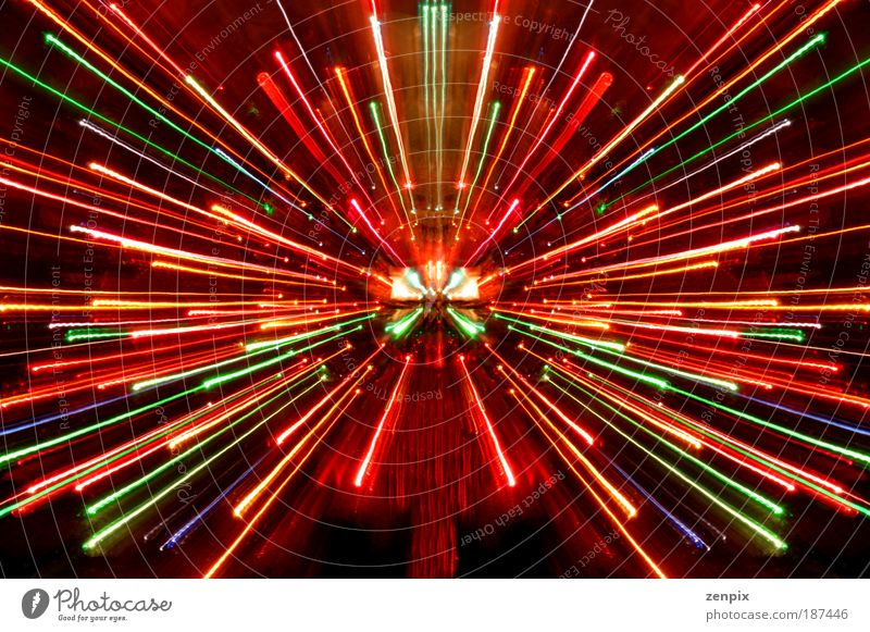 burst of lights Abstract Blue Green Beautiful Red Night Joy Multicoloured Long exposure Black Yellow Blur Colour Light Life Movement