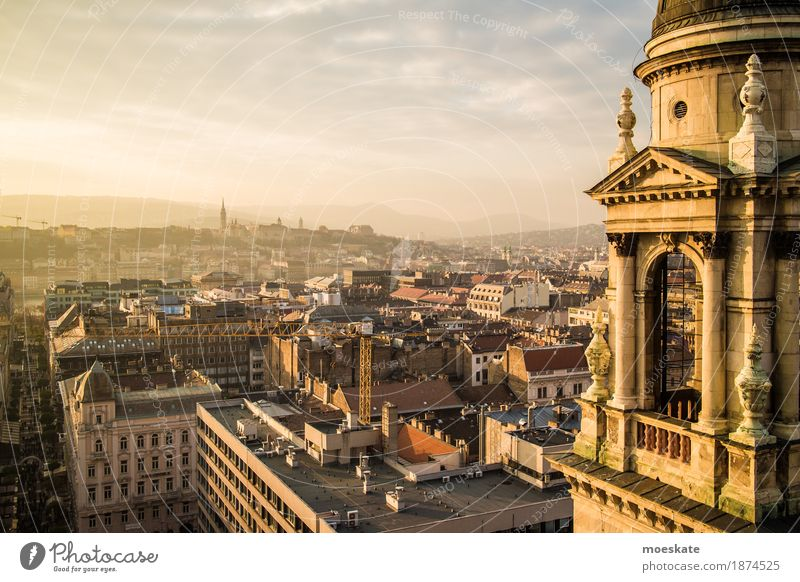 St Stephen's Basilica Budapest Town Capital city Downtown Old town Pedestrian precinct Skyline Populated House (Residential Structure) Church Dome Palace Castle