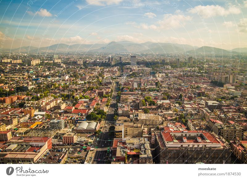 Mexico City Town Capital city Downtown Old town Skyline Populated Overpopulated House (Residential Structure) High-rise Building Dirty Gigantic Large Infinity