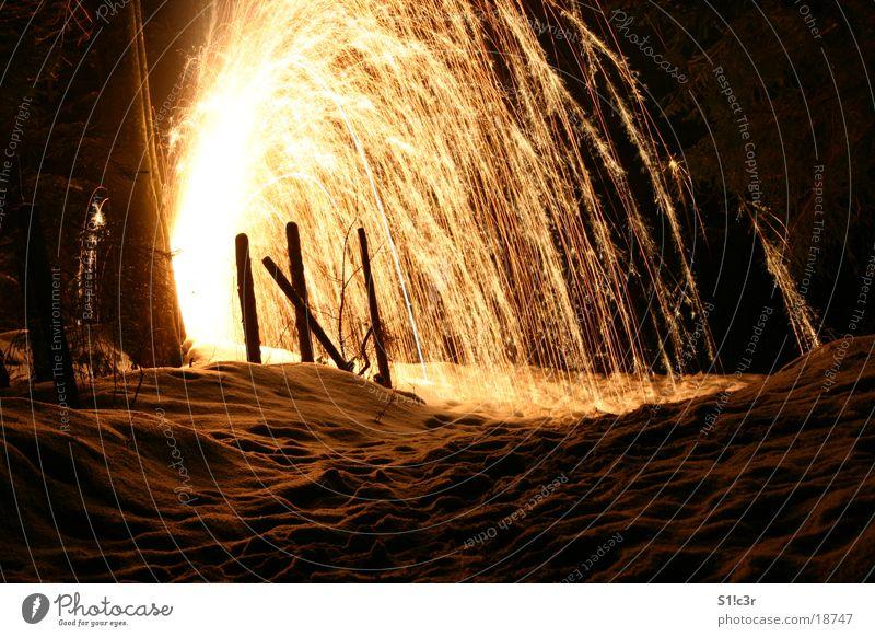 volcano, fireworks Light Long exposure Bright Firecracker Blaze Spark Star (Symbol) pyro Pyrotechnics Colour Volcano Snow