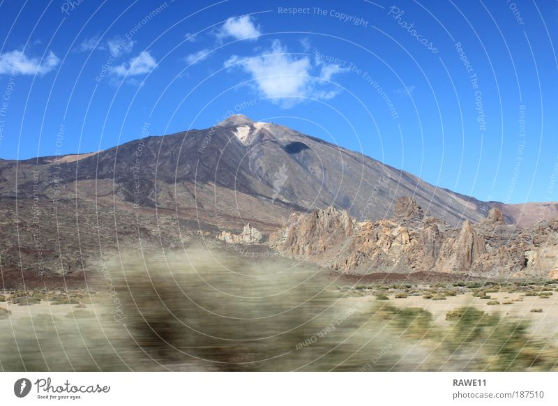 The highest mountain in Spain Nature Landscape Earth Weather Beautiful weather Rock Mountain Peak Volcano Teide Landmark Large Infinity Natural Dry Blue Brown