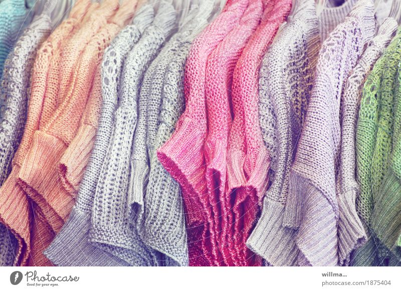 Green Gray Orange Pink Clothing Services Trade Sell Sweater Hallstand Knitted Knitting pattern Knitted sweater