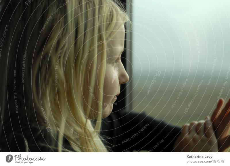 Human being Child Vacation & Travel Hand House (Residential Structure) Window Cold Sadness Think Time Hair and hairstyles Head Dream Blonde Infancy Wait