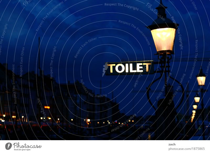 Need - Orientation Clouds Night sky Copenhagen Denmark Capital city Port City Old town House (Residential Structure) Harbour Lantern Toilet Nyhavn canal