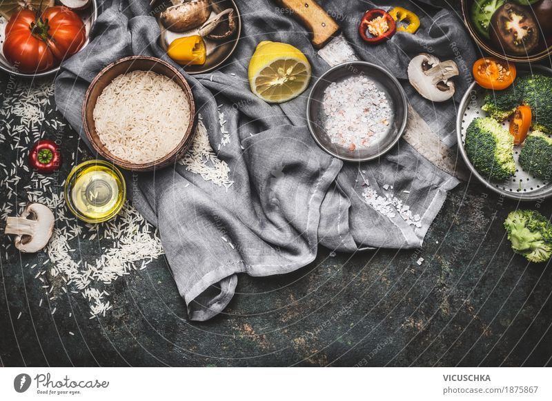 Healthy Eating Food photograph Eating Life Healthy Style Food Design Living or residing Nutrition Table Herbs and spices Kitchen Vegetable Grain Organic produce