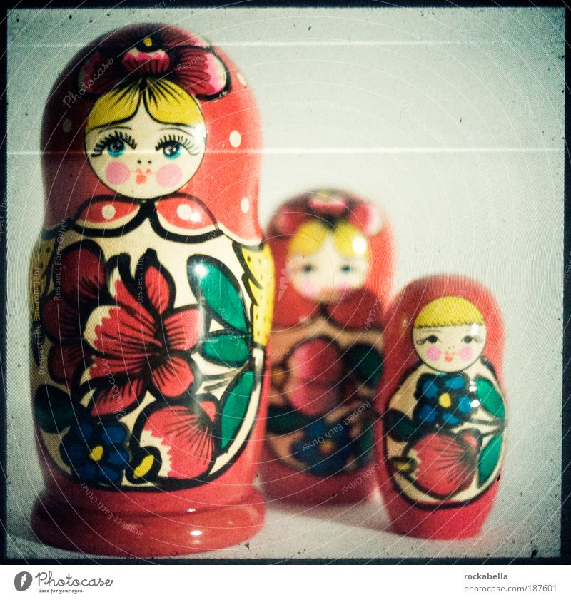 Matryoshkas Lifestyle Style Playing Toys Doll Decoration Souvenir Esthetic Friendliness Happiness Kitsch Original Wood Culture Russia Tradition Studio shot