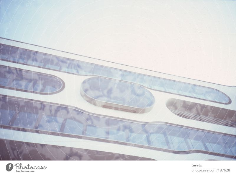 Blue House (Residential Structure) Cold Autumn Window Line Glass Design Concrete Facade Modern Round Uniqueness Exceptional Lomography
