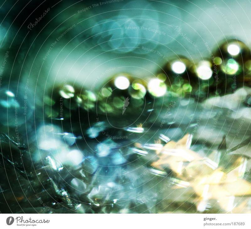 liquescent luminousness Elegant Style Metal Plastic Sphere Glittering Illuminate Flow Decoration Greeny-blue Gold Silver Christmas & Advent Christmas decoration