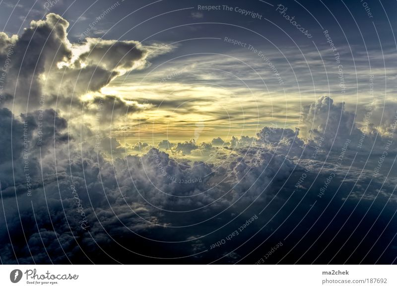 Nature Sky Clouds Loneliness Light Landscape Air Weather Sunbeam Climate Aerial photograph Elements Respect Light (Natural Phenomenon) Asia Sunset