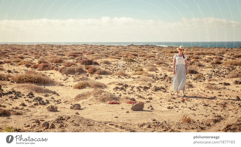 Human being Woman Vacation & Travel Plant Water Ocean Far-off places Beach Adults Warmth Coast Feminine Sand Trip Air Wait