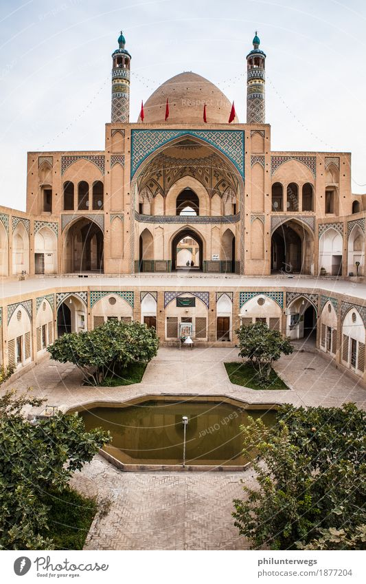 Mosque in Kashan / Iran Elegant Exotic Vacation & Travel Tourism Trip Adventure Far-off places Freedom Sightseeing City trip Expedition Architecture Downtown