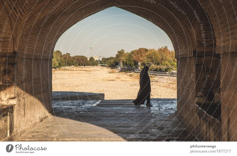 The woman in the shade Vacation & Travel Tourism Trip Adventure Far-off places Freedom Sightseeing City trip Expedition Isfahan Iran Asia Near and Middle East