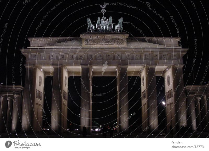 Brandenburg Gate Night Architecture Berlin Capital city