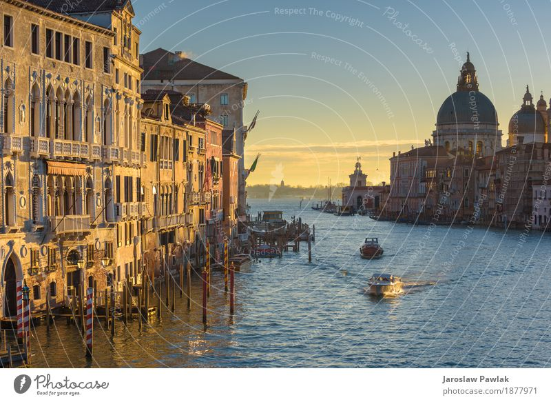 Water channels the biggest tourist attractions in Italy, Venice. Sky Vacation & Travel Old Blue Summer Sun Ocean House (Residential Structure) Architecture