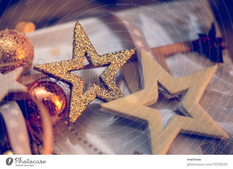 Advent season Star aniseed Cinnamon Elegant Style Design Christmas & Advent Glitter Ball Star (Symbol) Christmas star Glittering decorative items String