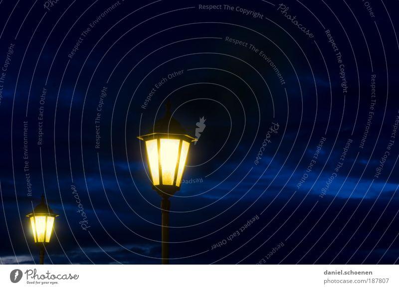 Sky Blue Clouds Yellow Lamp Weather In pairs Illuminate Lantern