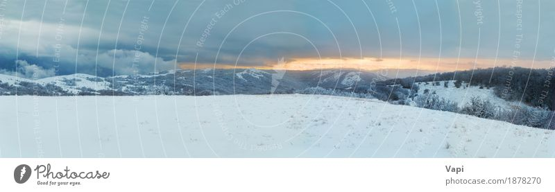 Winter landscape- panorama of winter mountains Vacation & Travel Tourism Trip Adventure Snow Winter vacation Mountain Christmas & Advent Nature Landscape Sky