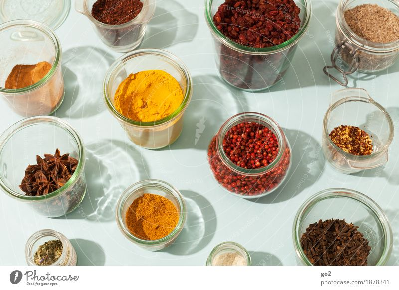 spices Food Fruit Herbs and spices Star aniseed Barberry Pepper Curcuma Saffron Cinnamon Salt Nutrition Eating Lunch Dinner Organic produce Vegetarian diet Diet
