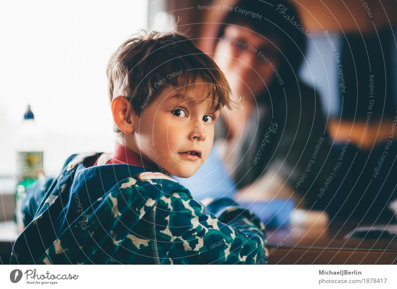 Child and mother in the railway Vacation & Travel Train travel Human being Family & Relations Infancy 2 3 - 8 years Colour photo Interior shot