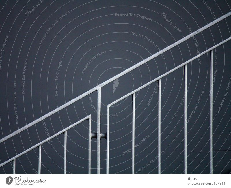 Blue Cold Lanes & trails Metal Stairs Corner Target Metalware Connection Steel Upward Silver Ascending Diagonal Handrail Banister