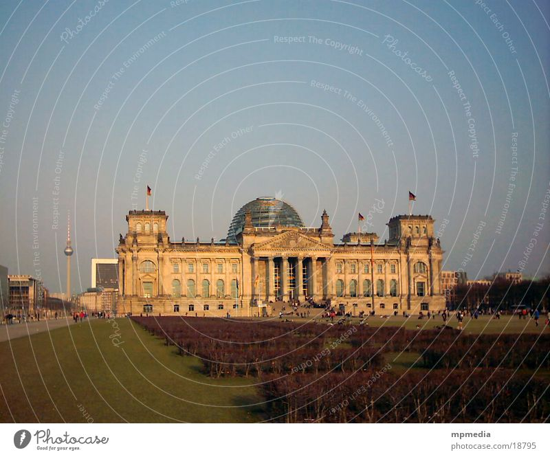 Reichstag with television tower Government Downtown Berlin Architecture TV tower Television tower