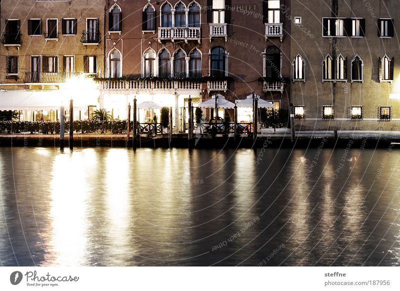 Beautiful Vacation & Travel Facade Esthetic River Italy Night River bank Venice Port City Canal Grande