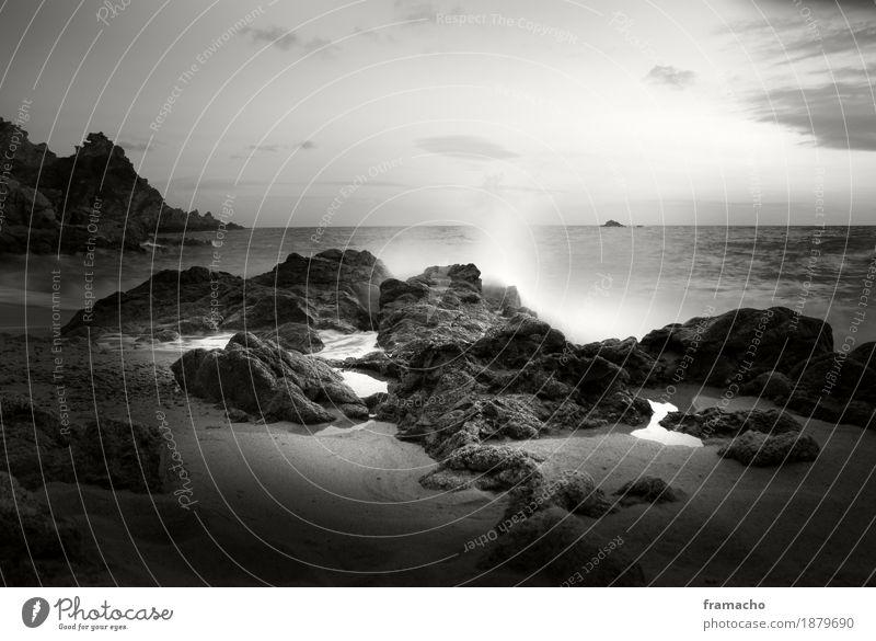 Beautiful Water Ocean Landscape Calm Far-off places Beach Environment Coast Freedom Sand Rock Contentment Waves Elegant Power