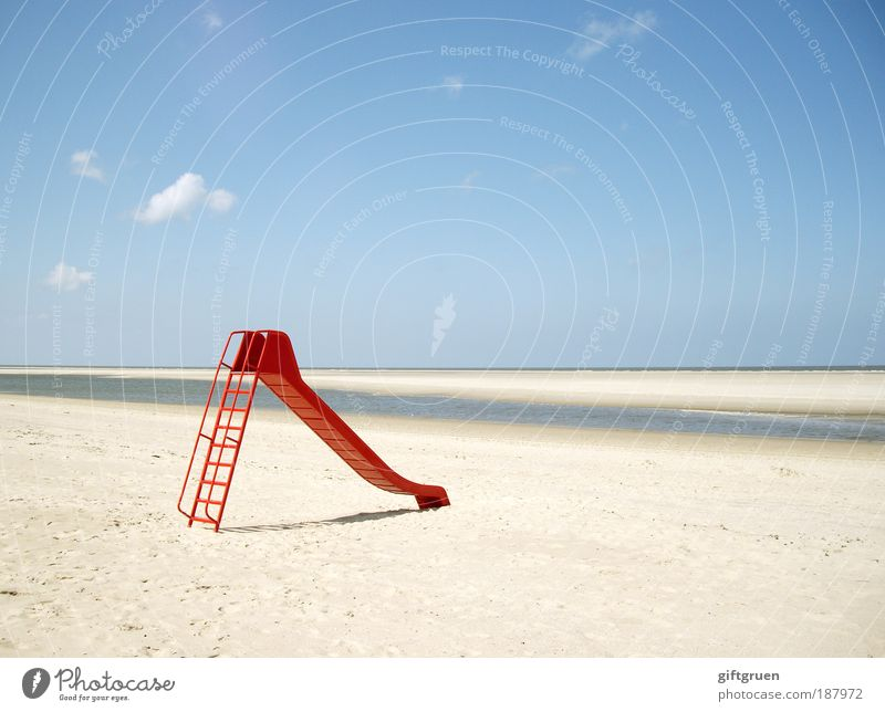 Water Sky Sun Ocean Red Summer Beach Vacation & Travel Far-off places Playing Freedom Sand Contentment Movement Coast Nature